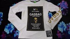 GASBAG/ガスバッグ/プリントロンT/ホワイト7(130)