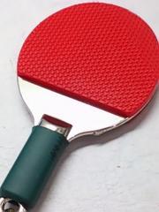 卓球 ラケット シェークハンド キーホルダー 深緑 グリップ