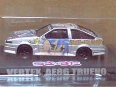 1/64 らき☆すた 痛車ミニカーコレクション ベルテックス AE86 トレノ シルバー