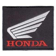 ホンダ(HONDA)■ワッペン■黒白赤#hnd005