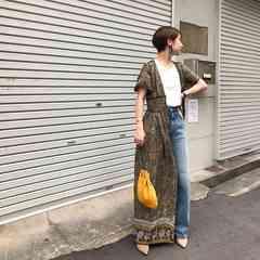 todayful/paisley corset dress/新品/Pi着完売即決