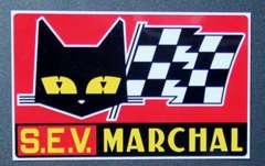 マーシャルステッカー(小)赤PシビエルーカスキャレロヘラーボッシュバイオスカーW反射旧車會