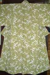 秋野に小菊紋様 袷のお着物  未使用品