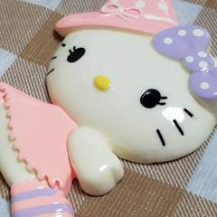 BIGパーツ ☆ とんがり帽子 魔女 キティ ☆ 約 8.5 cm