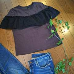 〇W closet〇レースがかわいいデザインTシャツ*・゜