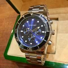 最安値!大特価!ロレックス好きな方に♪シルバーメタル腕時計★ブルー