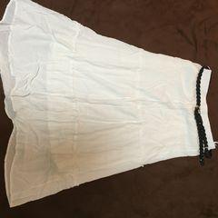夏 ベルト付きロングスカート
