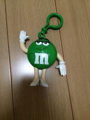 m&m'sキーホルダー緑チョコ入れ物