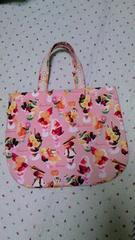 ◆ハンドメイド◆ピンクのパフェ柄♪トートバッグ◆送料込み
