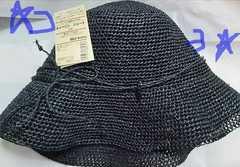 無印良品 キャペリン ショート 黒色 婦人用帽子 レディース 新品