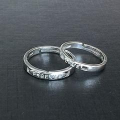 ◆シルバーカップルリング フリー 新品 送料無料