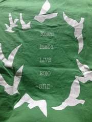 稲葉浩志 VネックTシャツ LIVE 2010 en�U B'z 緑 XS