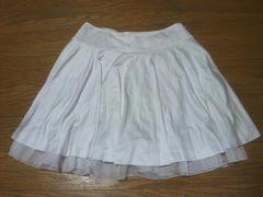 CECIL McBEEセシルマクビー☆backウエストリボン風★裾チュールフレアスカート