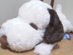 SNOOPY/スヌーピー寝そべりジャンボぬいぐるみ68�pブラウン