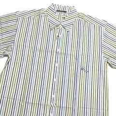 《XL》新品☆ROCA WEARロカウェア半袖ストライプシャツ☆ホワイト×ブルー系