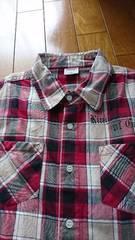 ちょっぴり難140�p半袖チェックシャツ格安