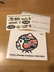 johnnyジャニーズstarshipカウントダウンDVD2003-2004嵐V6レア