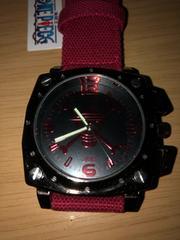 ワンピース スクエア スカル デニム ベルト 腕時計