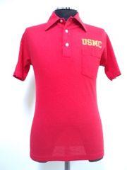 希少S!70s ビンテージ ARTEX ミリタリー USMC 海軍 ポロシャツ USA古着