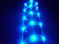 超発光/薄型/防水 LEDテープ 90�p ブルー/青