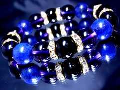 ラピスラズリ瑠璃石§アメジスト§オニキス§12ミリ§金ロンデル
