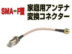 SMA → F型家庭用TVアンテナ変換ケーブル