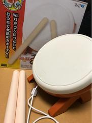 美品Wii/WiiU用太鼓の達人専用コントローラ太鼓とバチ箱付き