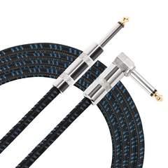 ギター/ベース用ケーブル SL型 ギターシールド3M(ブルー)