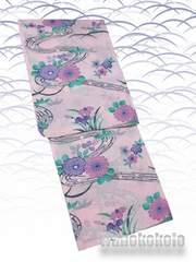 【和の志】女性用浴衣◇Fサイズ◇淡ピンク系・古典柄◇KWAF-109