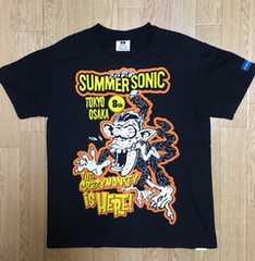SUMMERSONIC☆サマソニTシャツ黒Mサイズ送料込/古着
