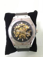 HUBLOT好きにオススメ!!腕時計 機械式 高級腕時計 シルバー!