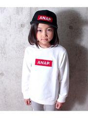 新品ANAPKIDS☆130 BOXロゴ トレーナー 白 アナップキッズ