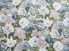 はぎれ☆白と青の薔薇柄 37×110