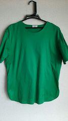 グリーン★シンプル★カジュアル★Tシャツ★sizeM