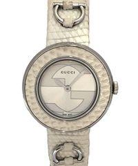 正規グッチ腕時計レディースユープレイ時計Uプレイ129.5インターロッキングGUCCI