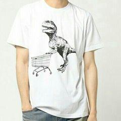 Diesel Tシャツ ティラノザウルス ホワイト L
