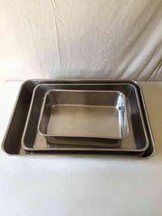 ステンレスバット 水切 厨房備品ステンレス容器 5セット店舗備品