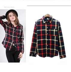 323-905973大きいサイズ☆チェックシャツ☆4L