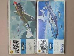 1/72 ハセガワ アメリカ陸軍 P-40N ウォーホーク・P-51D ムスタング