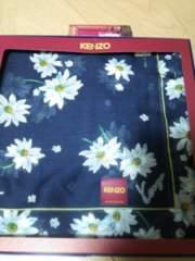 KENZO ハンカチ 青色 花柄 新品 未使用 箱つき