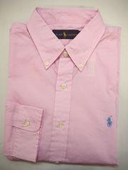 ラルフローレン 長袖ボタンダウン ドレスシャツ 16.5(42) ピンク