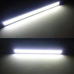 送料無料 12V24V ドレスアップ 面発光COB-白 LED 銀色17cm 左右