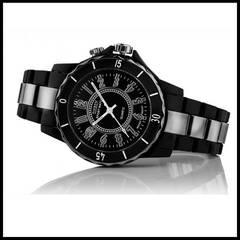 ★送料無料★新品♪OHSENデザイン腕時計ブラック/黒☆超軽量