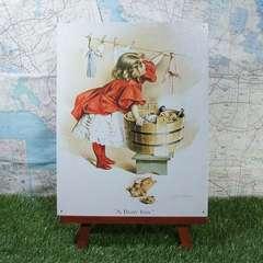 新品【ブリキ看板】Washing Girl/洗濯少女 -Maud Humphrey-