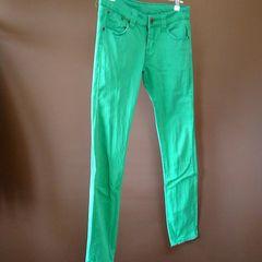 ★ストレッチスキニーカラーパンツ緑