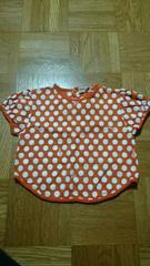 BABBLEBOON♪半袖♪Tシャツ♪水玉×オレンジ♪95