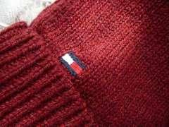 トミーヒルフィガー フリーサイズニット手袋赤