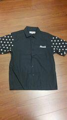 THIRDLUCK/黒×白刺繍半袖シャツ/星柄/ルードギャラリーRUDE