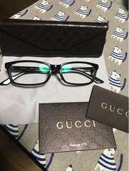 確実正規(日本製)GUCCIメガネ。美品。