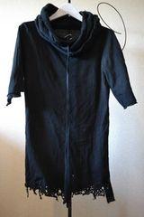 ART. 裾ダメージ5分袖パーカー